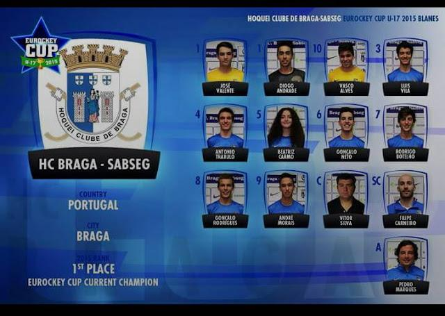 Eurockey sub 17 - HC Braga começa prova a vencer Sarzana de Itália