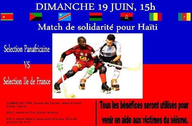 Jogo de solidariedade com o Haiti